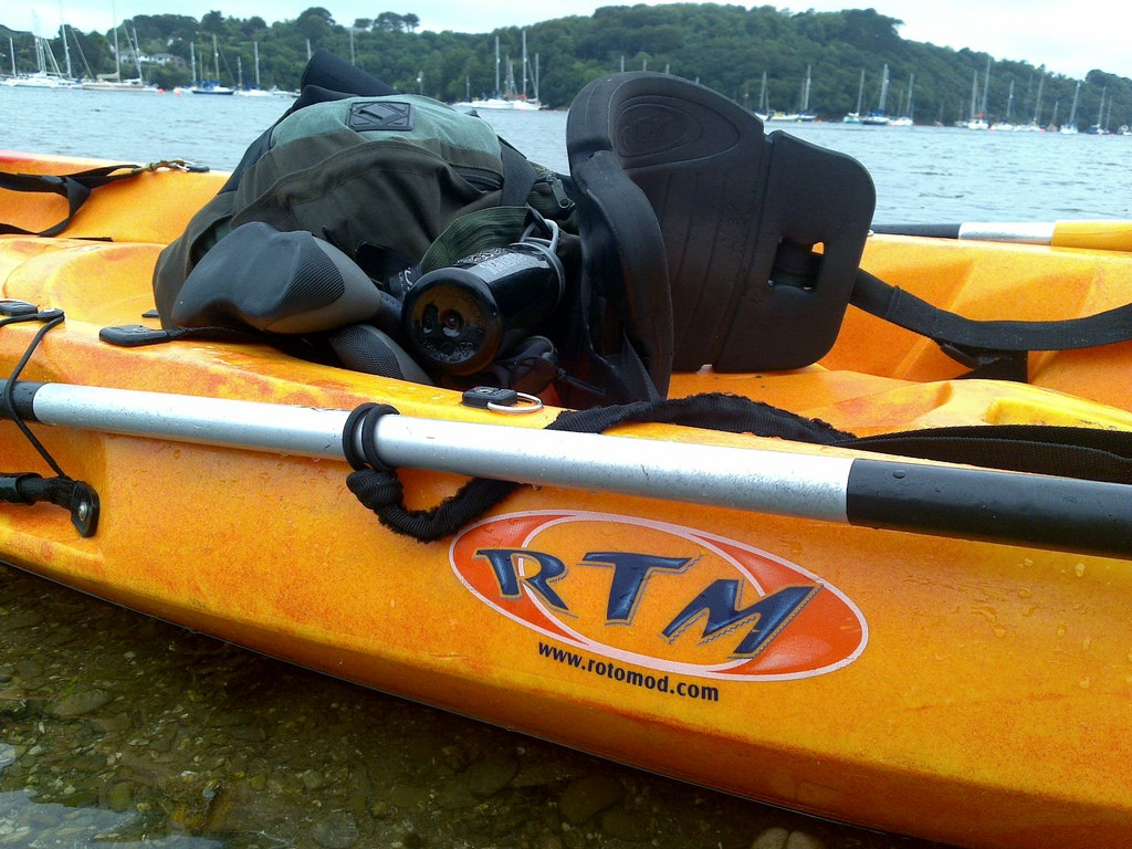 Make sure your kayak is securely fastened to prevent it from going air born as you go down the highway.